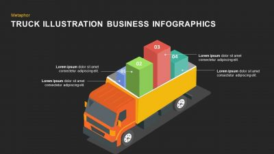 Truck Illustration Business PowerPoint Template