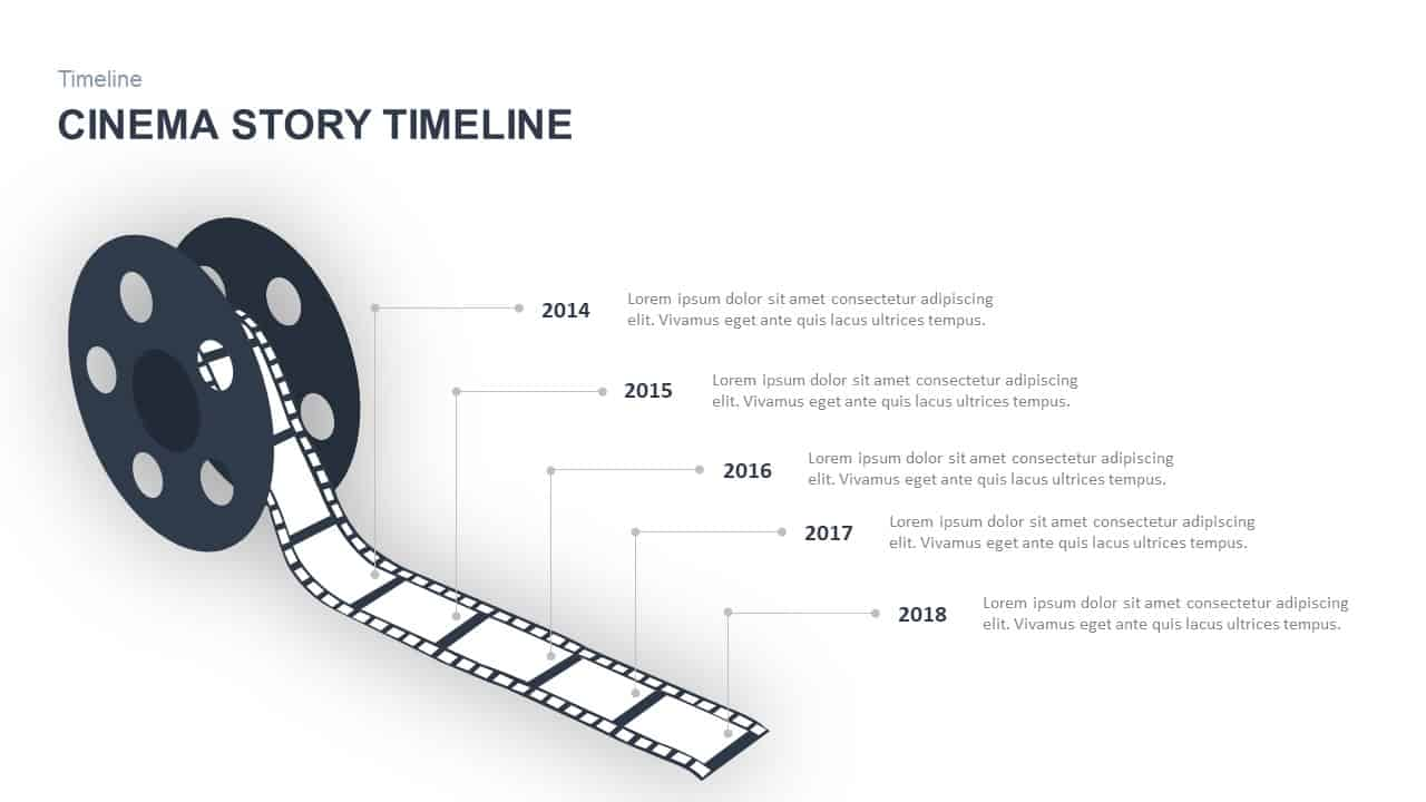 Cinema Story Timeline PowerPoint Template