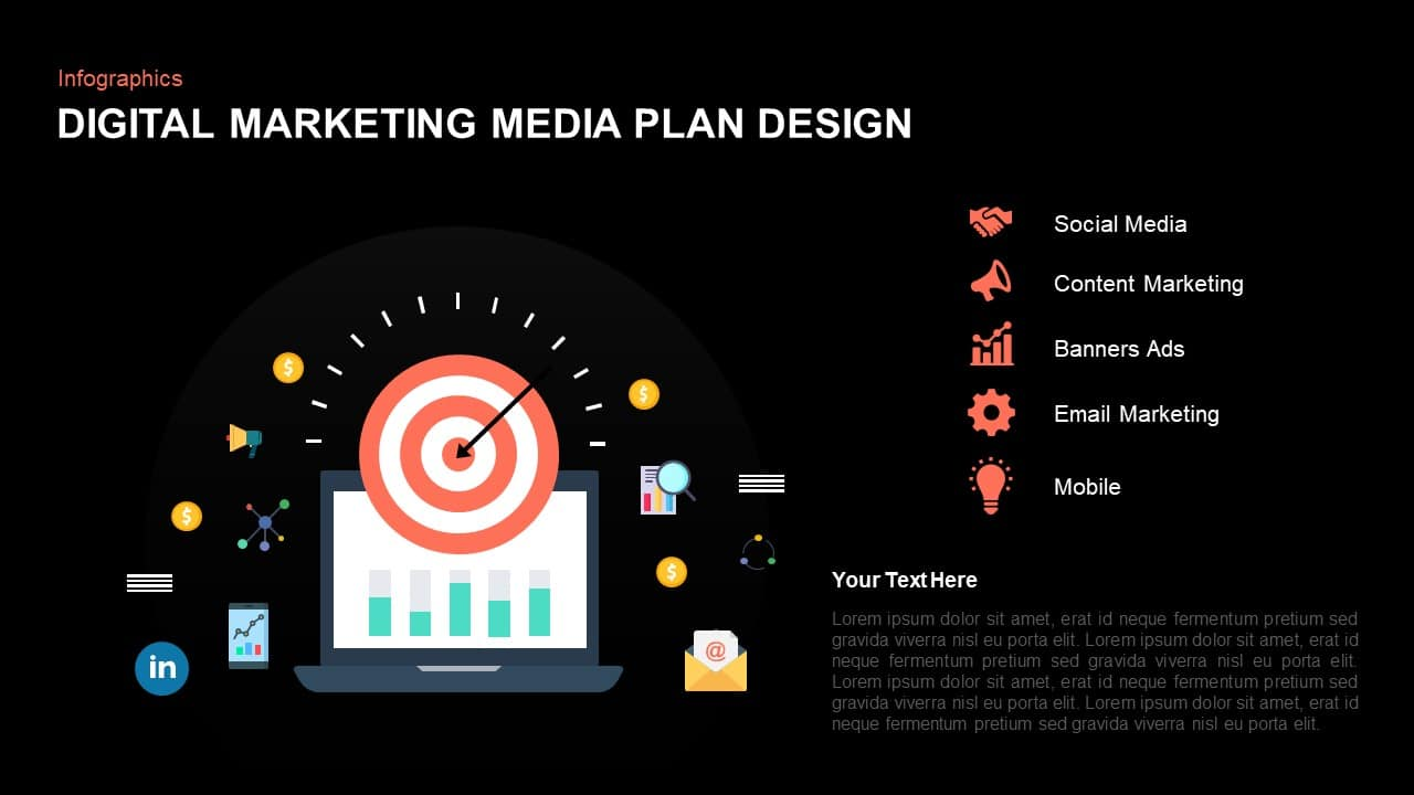 Digital Marketing Media Plan PowerPoint Template
