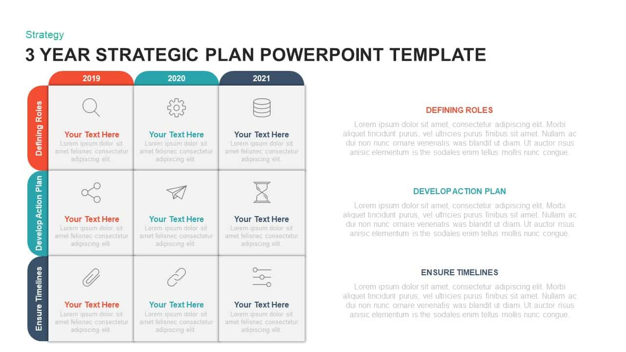 3 Year Strategic Plan PowerPoint Template