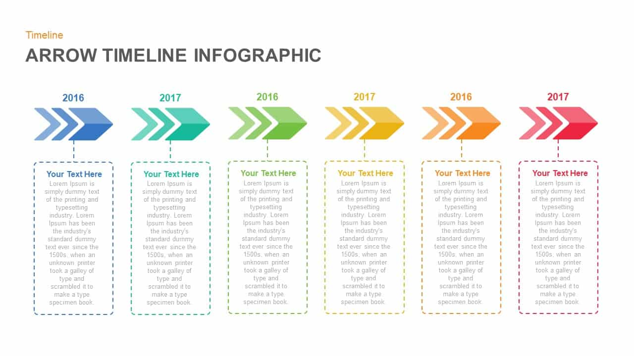 arrow timeline powerpoint template