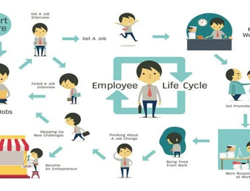 Employee life cycle management with HR responsibilities