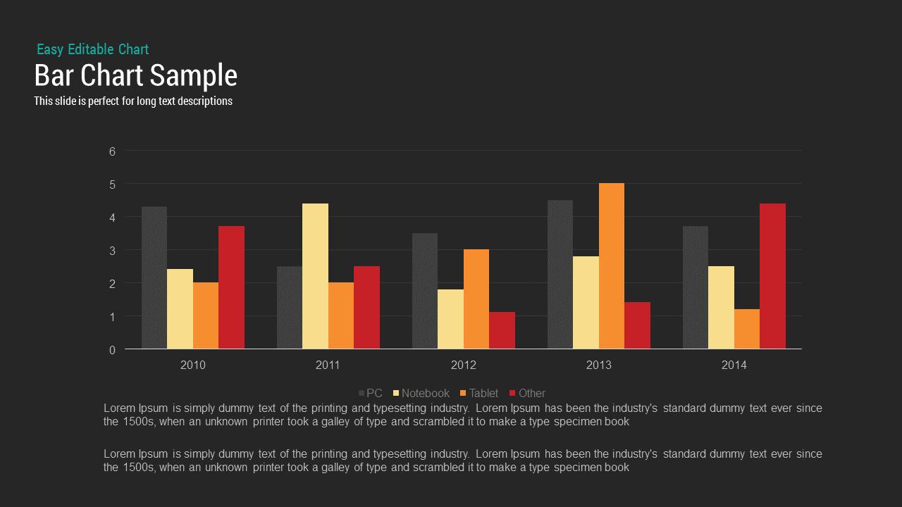 Sample bar chart PowerPoint template