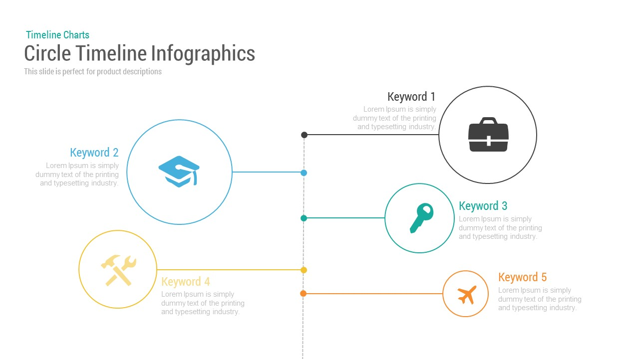 Circle Timeline Template for Infographic PowerPoint Presentation