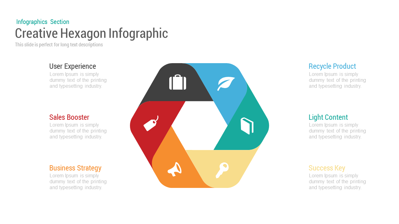 Creative Hexagon Infographic Powerpoint and Keynote template