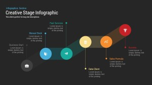 Creative Stage Infographic PowerPoint and Keynote Template