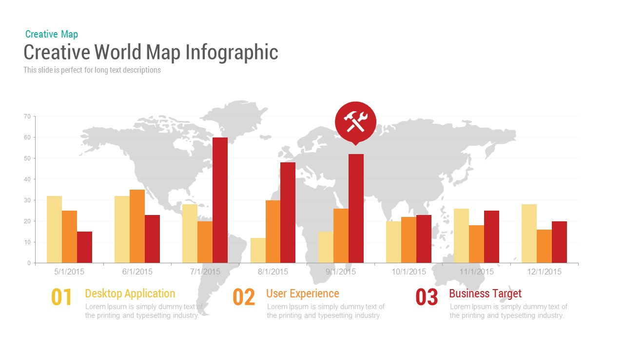 Creative World Map Infographic Powerpoint and Keynote template