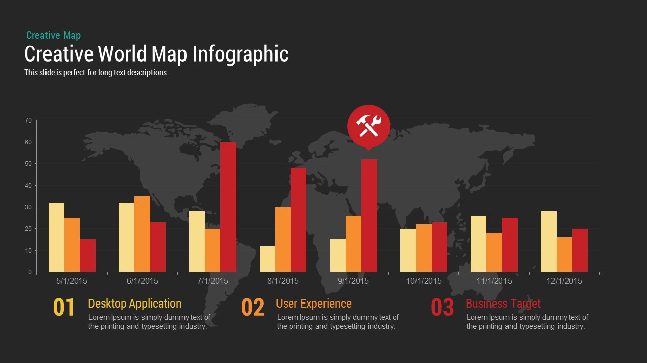 Creative World Map PowerPoint Template and Keynote