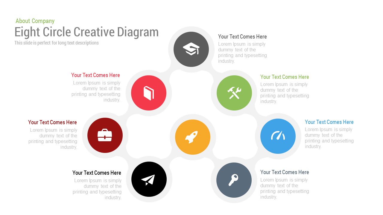 Eight Circle Creative Diagram Free PowerPoint Template and Keynote template