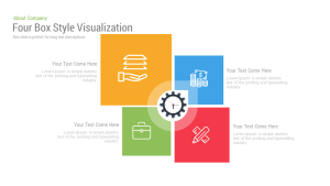 4 Box Style Visualization Free PowerPoint Template and Keynote