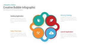 Four Bubble Infographic PowerPoint Template and Keynote
