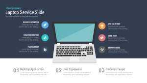 Laptop Service Free PowerPoint Template and Keynote Slide