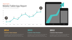 Free Mobile/Tablet App Report PowerPoint Template & Keynote