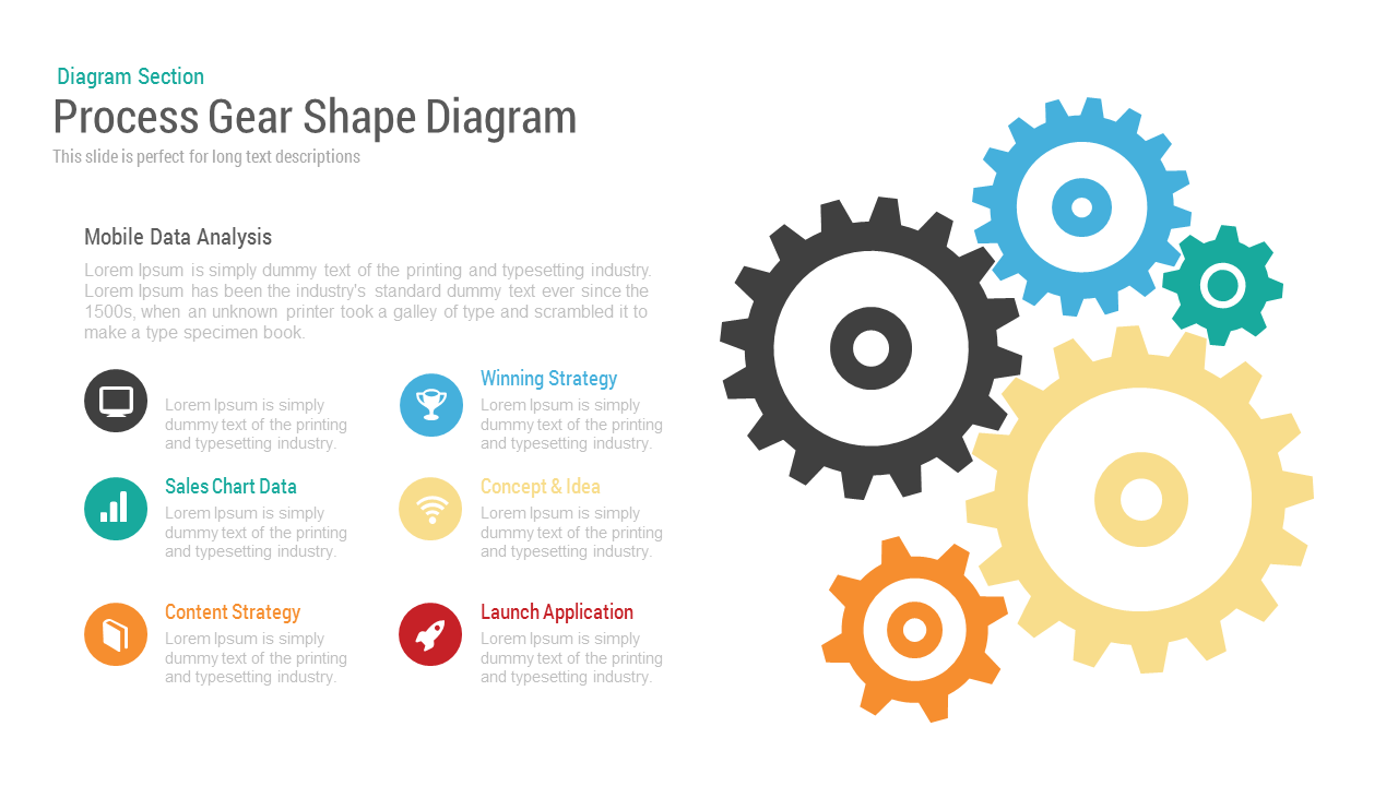 Process Gear Shape Diagram PowerPoint and Keynote Template