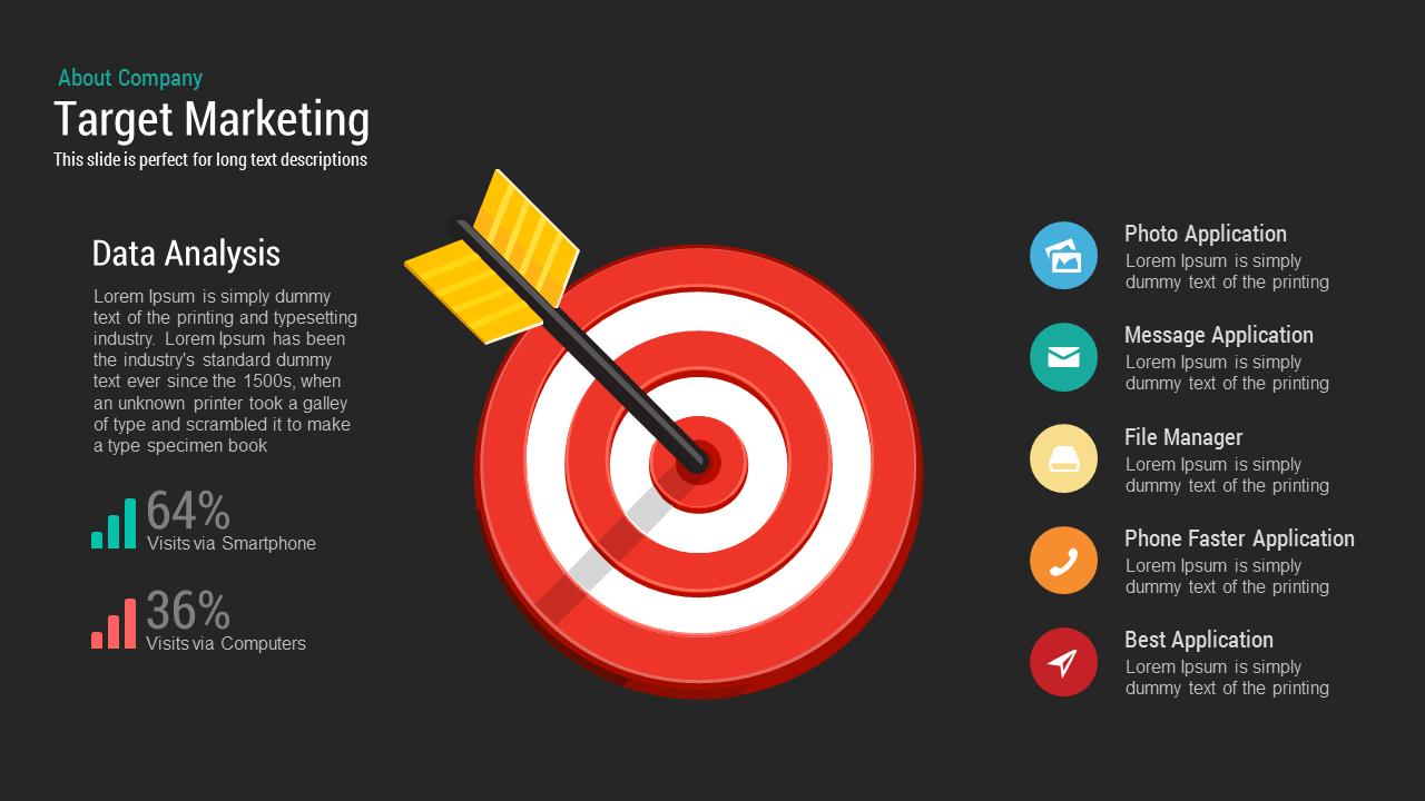 Target Market PowerPoint Template and Keynote Slide