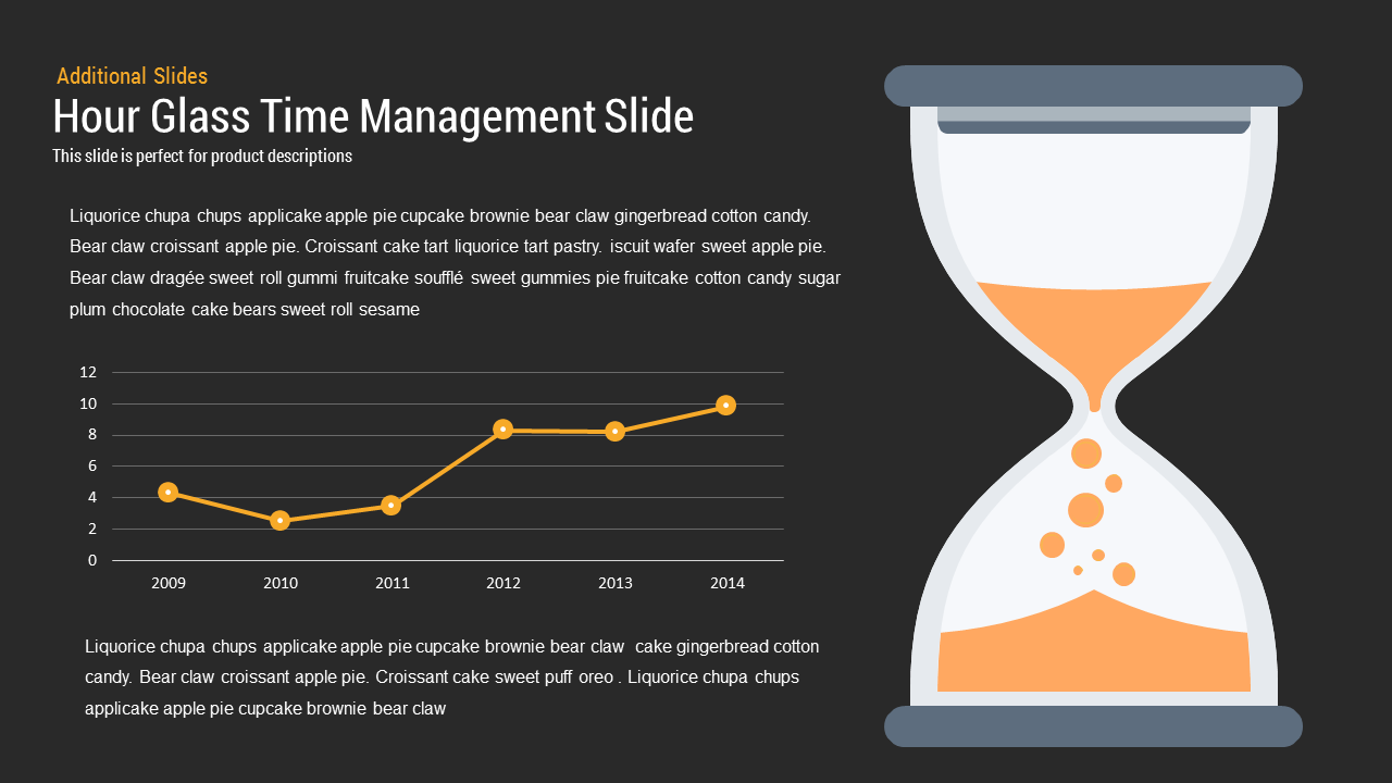 hourglass time management PowerPoint template and keynote