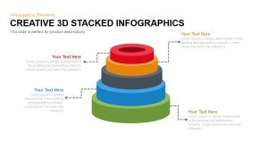 Creative 3d Stacked Circle Infographics Powerpoint and Keynote template