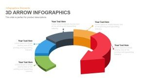 3D Arrow Infographics PowerPoint Template and Keynote Slide