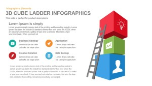 3d Cube Ladder Infographics PowerPoint Template and Keynote Presentation