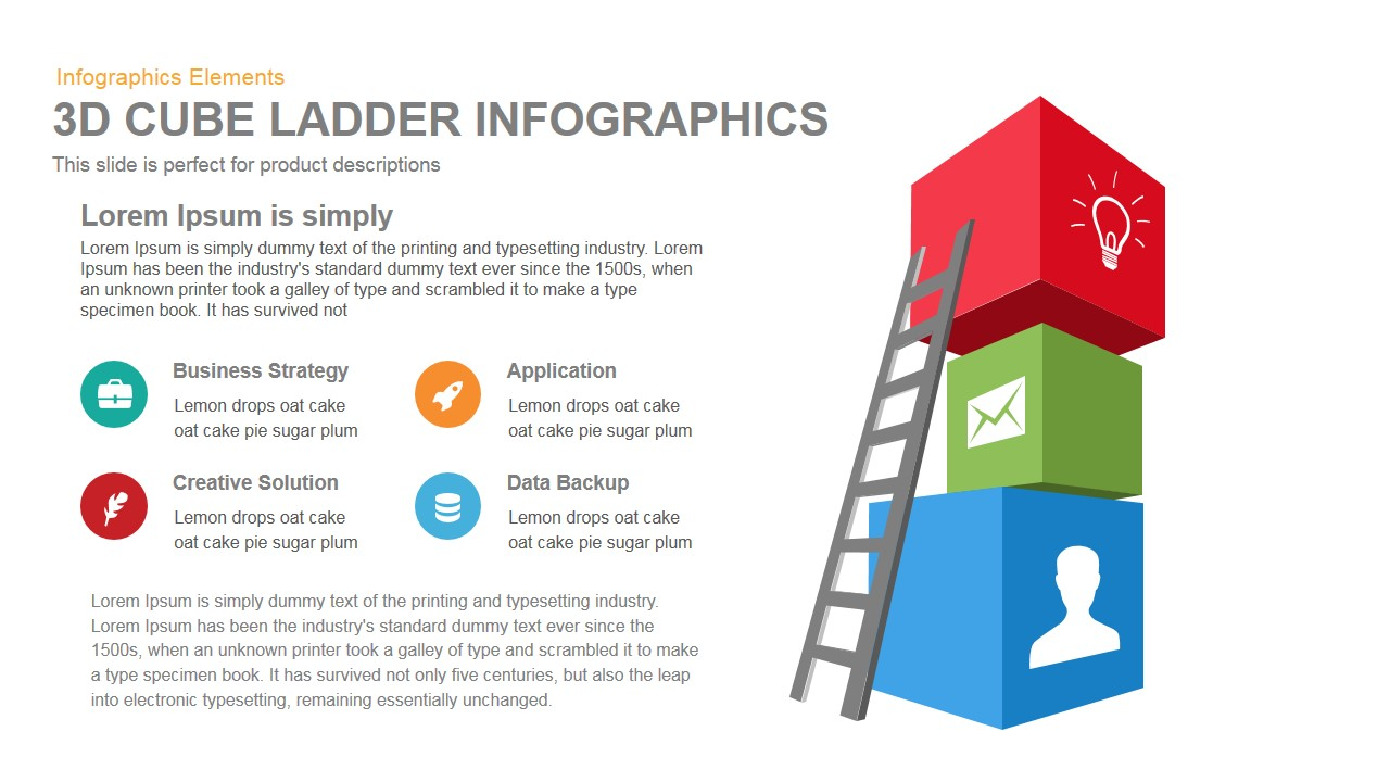 3d Cube Ladder Infographics Powerpoint Template And Keynote Slidebazaar