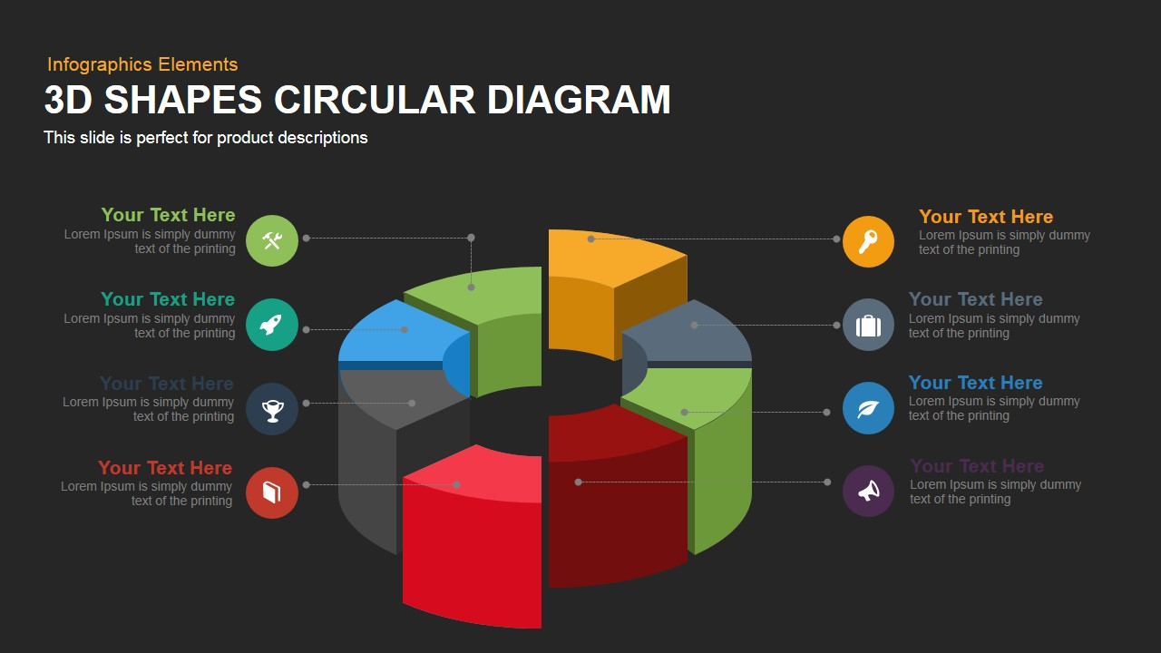 3D Circular Diagram PowerPoint Template and Keynote
