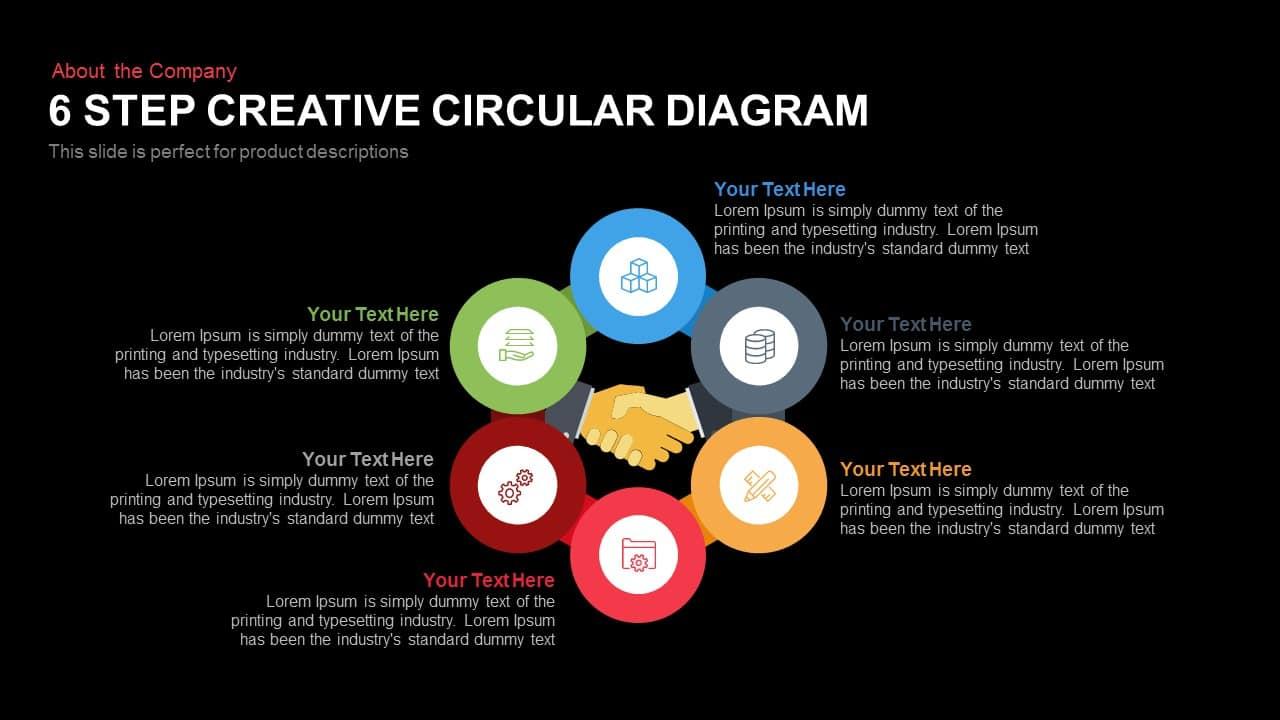 6 Step Creative Circular Diagram