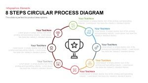 8 Steps Circular Process Diagram PowerPoint Template and Keynote Slide