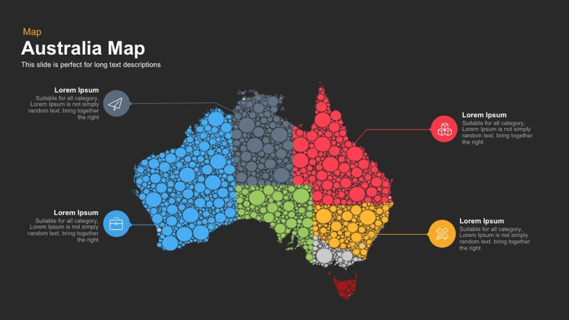 Australia Map Template for PowerPoint and Keynote