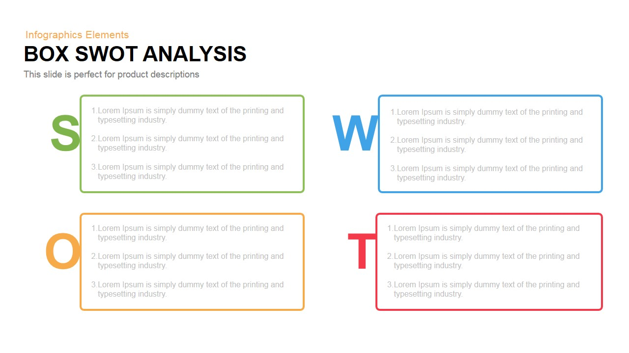 Box Swot Analysis Powerpoint Keynote