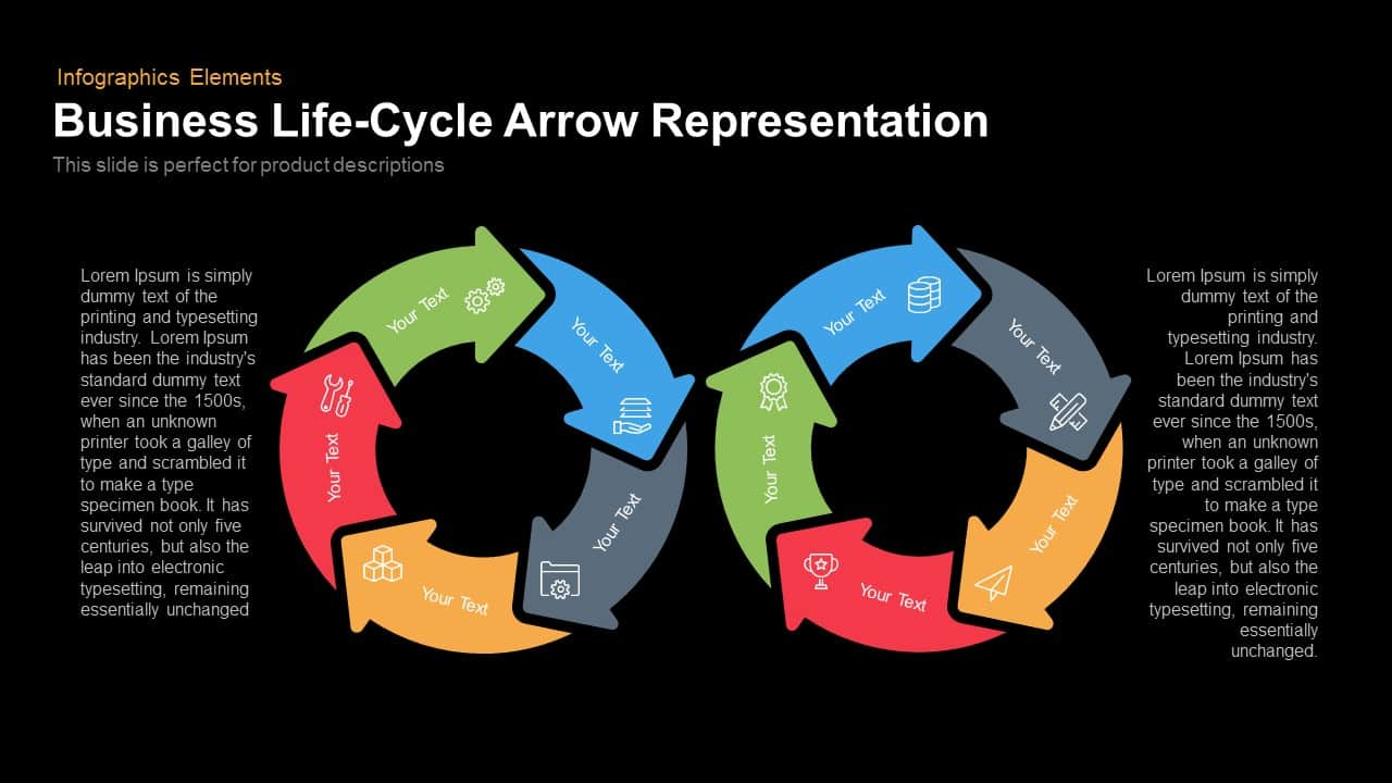 Business Life Cycle Arrow Representation