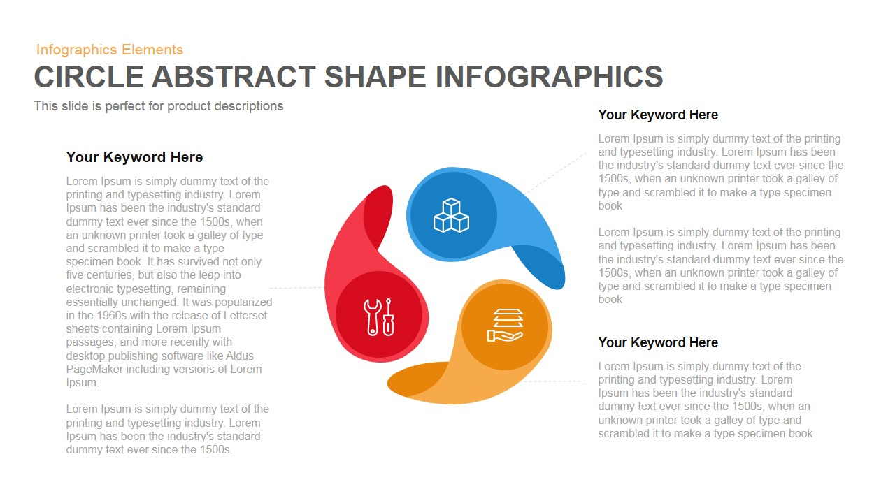 Abstract Circle Shapes PowerPoint Template and Keynote