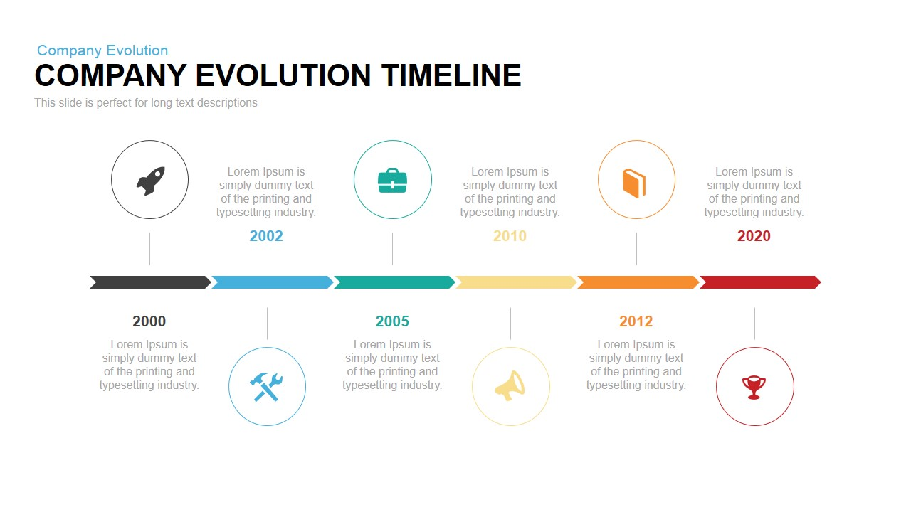 48d9aa307e24 Company Evolution Timeline Powerpoint Keynote  Company Evolution Timeline  PowerPoint Template ...