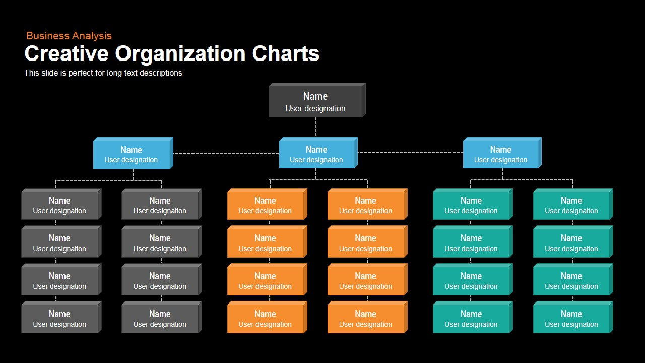 Creative Organization Chart Powerpoint and Keynote template