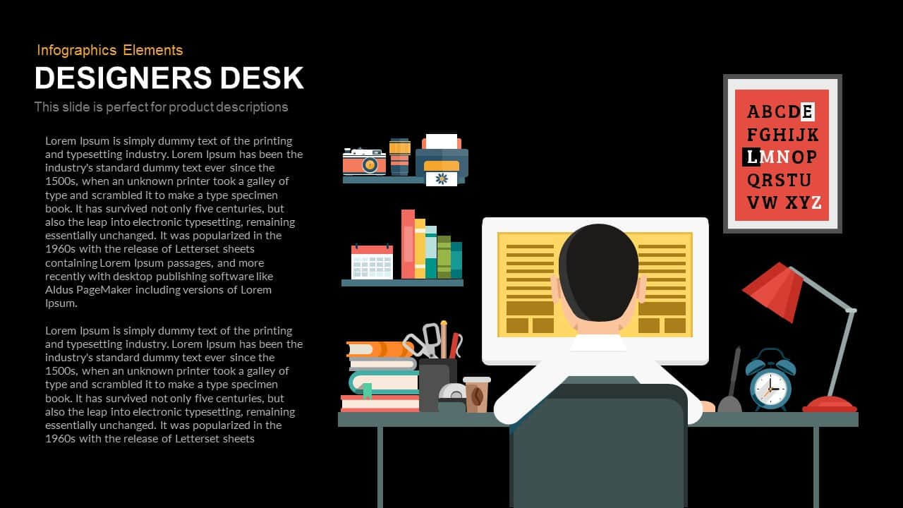 Designers Desk Powerpoint Template and Keynote Slide