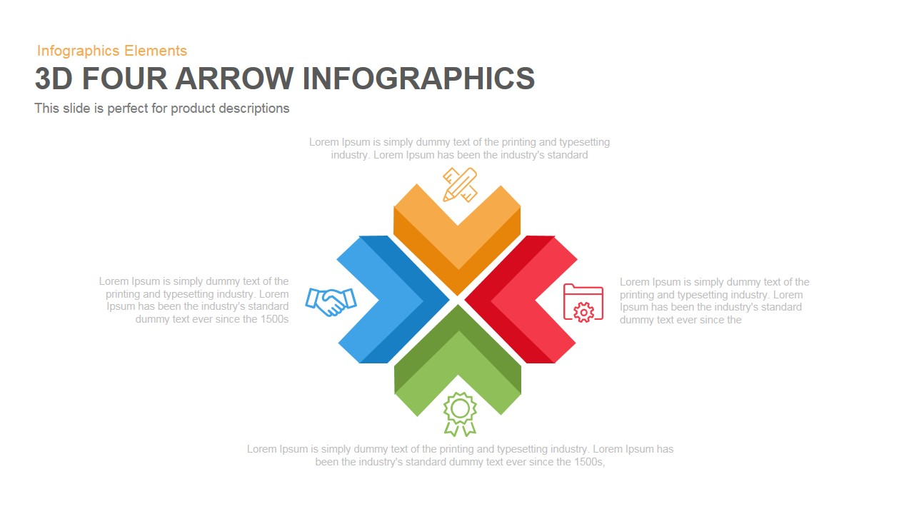 Four Arrow Infographics Powerpoint Keynote template