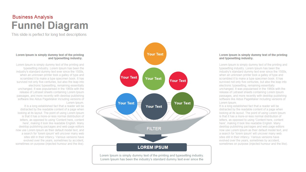 Funnel Diagram Representation Powerpoint Keynote