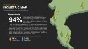 Isometric Map Powerpoint and Keynote template
