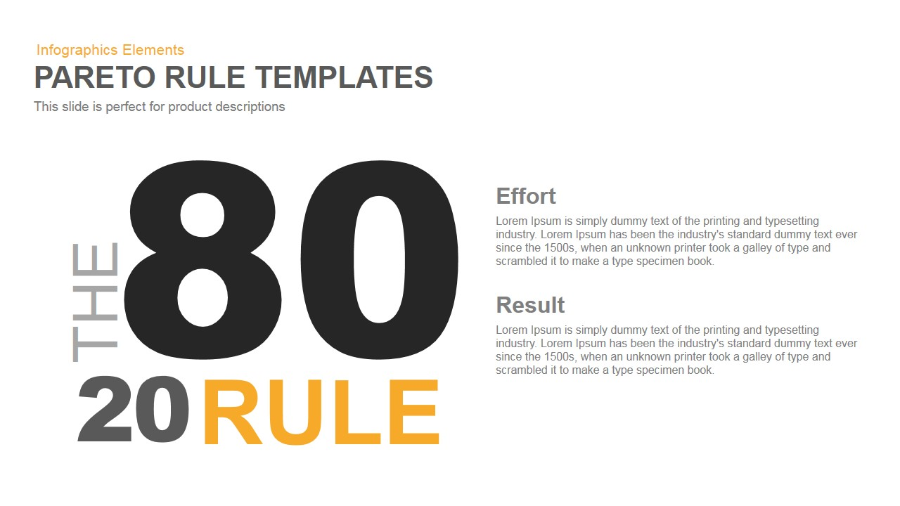 Pareto Principle PowerPoint Template and Keynote