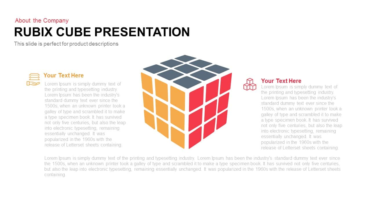 Rubik's cube PowerPoint Presentation Template