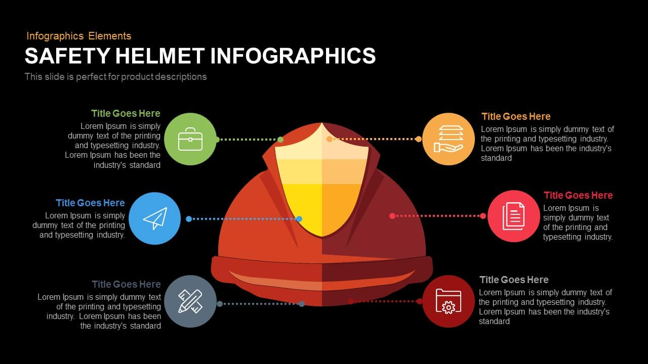 safety helmetPowerPointtemplate and keynote