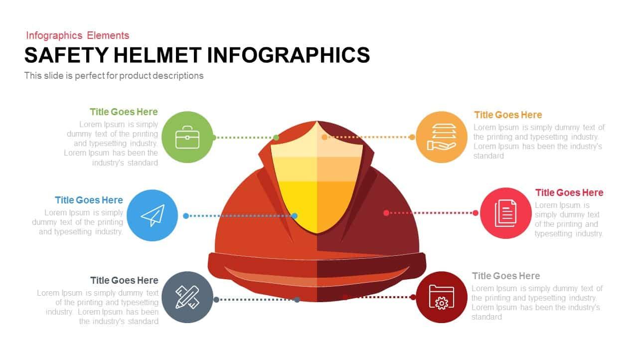 Safety Helmet Infographics Powerpoint Keynote