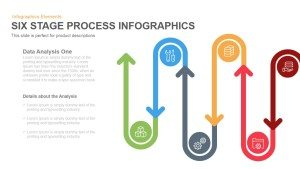 6 Stage Infographics Process PowerPoint Template and Keynote