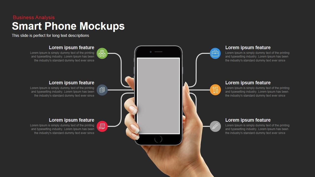 SmartPhone Mockup Powerpoint Keynote template