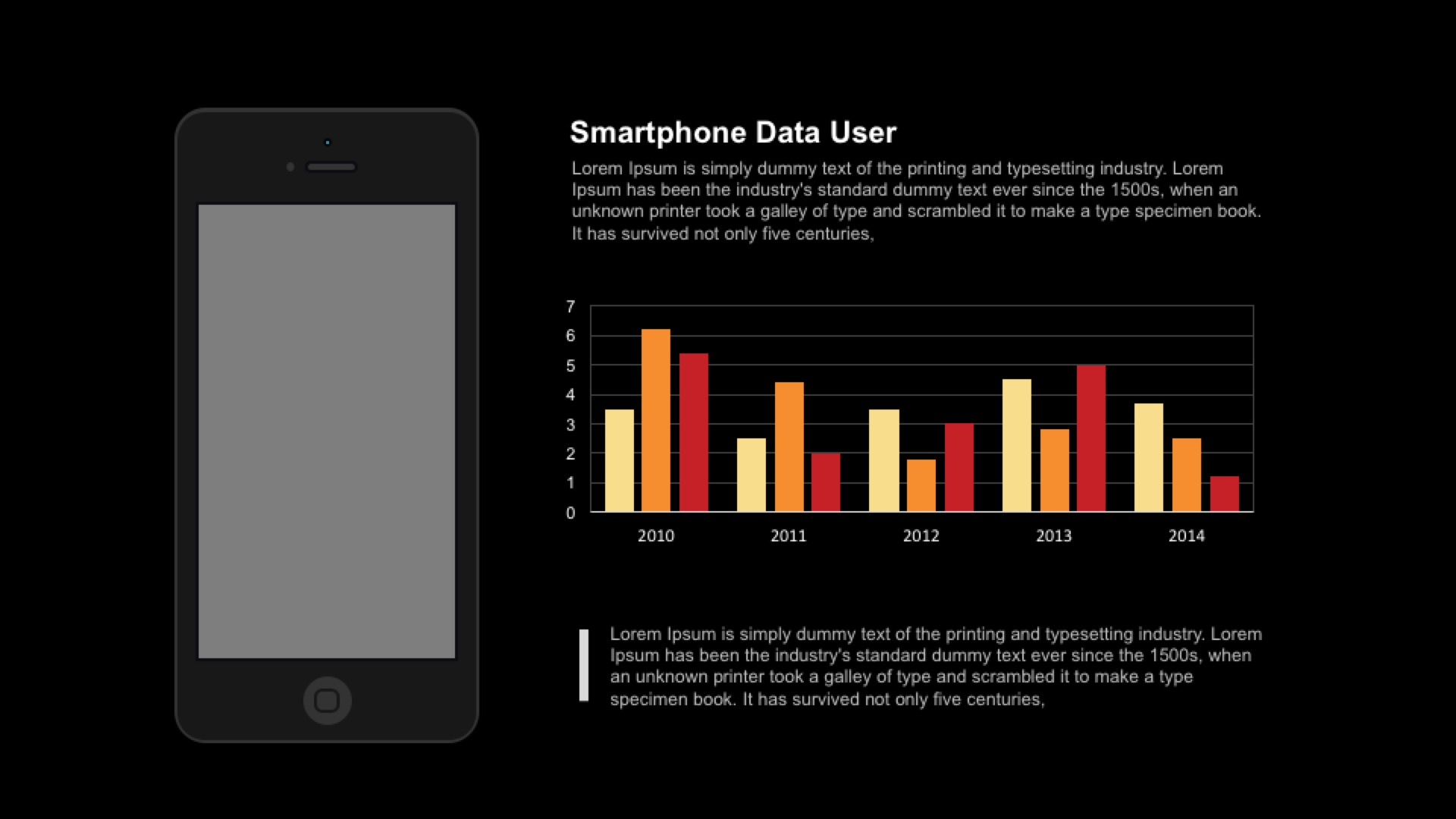 Smartphone user data PowerPoint template and keynote