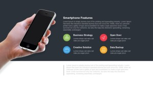 Smartphone Features Template for PowerPoint & Keynote
