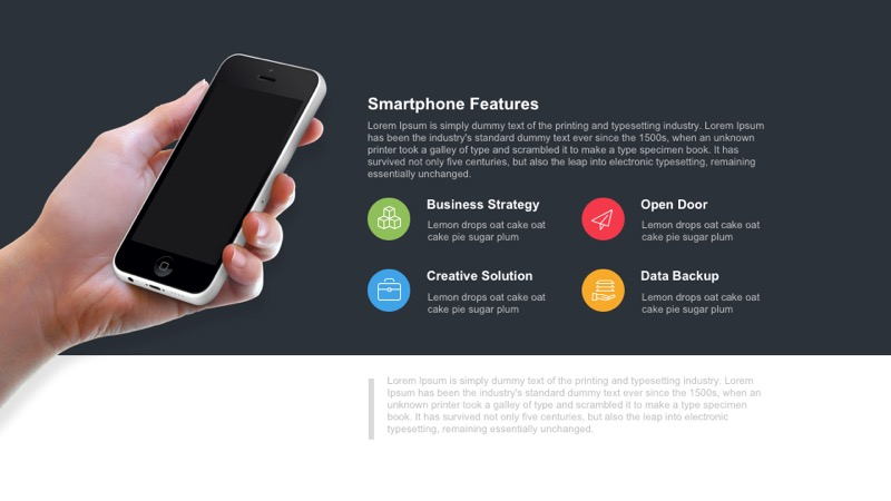 Smartphone features PowerPoint template