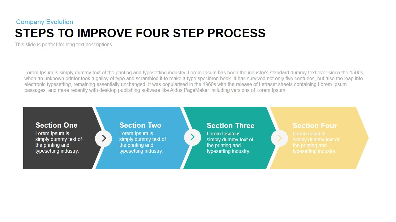 Steps to Improve Process Powerpoint Keynote template