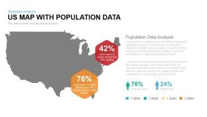 US Map with Population Data Template for PowerPoint & Keynote