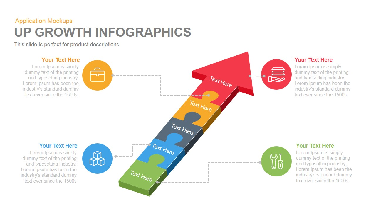 Up Growth Infographics PowerPoint Template and Keynote Slide