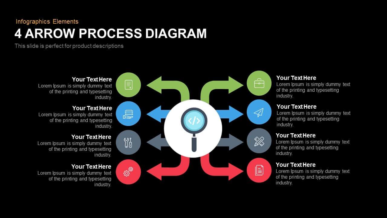 arrow process diagram 4